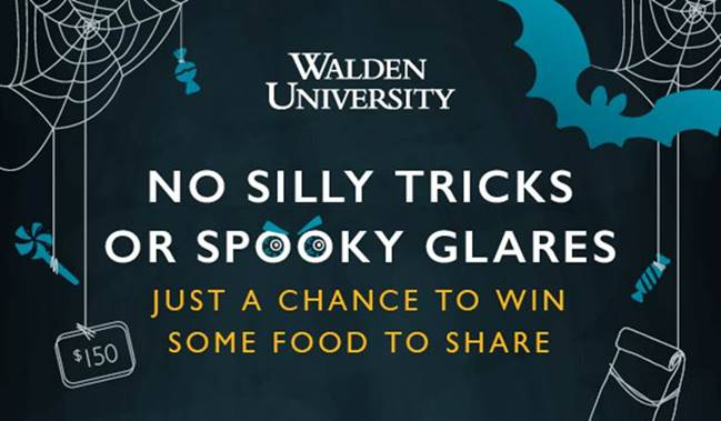 Walden University chance to win lunch for healthcare workers