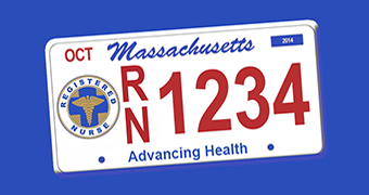 Get your Massachusetts RN license plate!